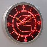 Cummins LED Neon Wall Clock - Red - SafeSpecial