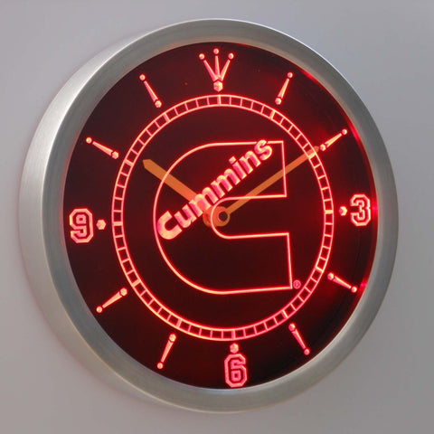 Image of Cummins LED Neon Wall Clock - Red - SafeSpecial
