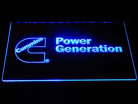 Image of Cummins Power Generation LED Neon Sign - Blue - SafeSpecial