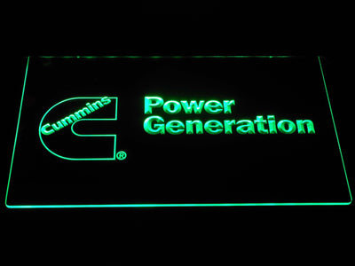 Cummins Power Generation LED Neon Sign - Green - SafeSpecial