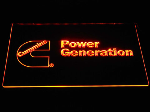 Image of Cummins Power Generation LED Neon Sign - Orange - SafeSpecial