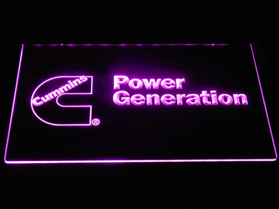 Cummins Power Generation LED Neon Sign - Purple - SafeSpecial