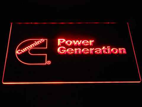 Image of Cummins Power Generation LED Neon Sign - Red - SafeSpecial