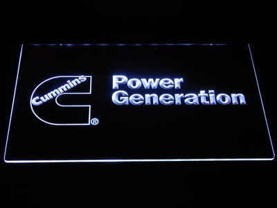 Cummins Power Generation LED Neon Sign - White - SafeSpecial