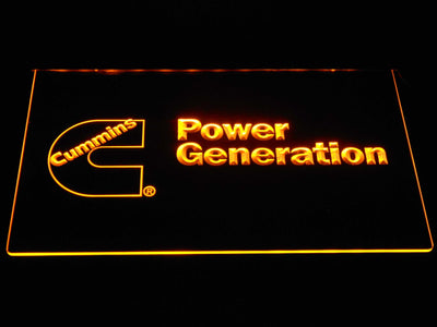 Cummins Power Generation LED Neon Sign - Yellow - SafeSpecial