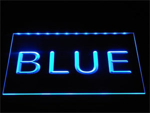 Custom LED Neon Sign - Design Your Own - Landscape - Blue - SafeSpecial