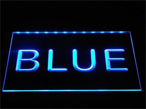Image of Custom LED Neon Sign - Design Your Own - Landscape - Blue - SafeSpecial