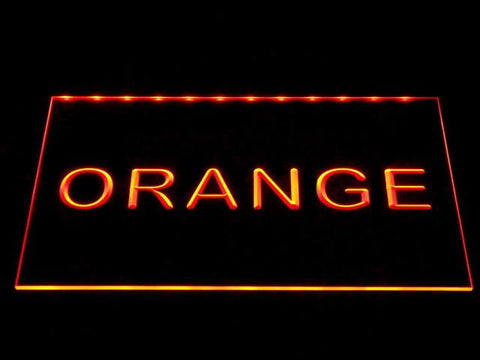 Image of Custom LED Neon Sign - Design Your Own - Landscape - Orange - SafeSpecial