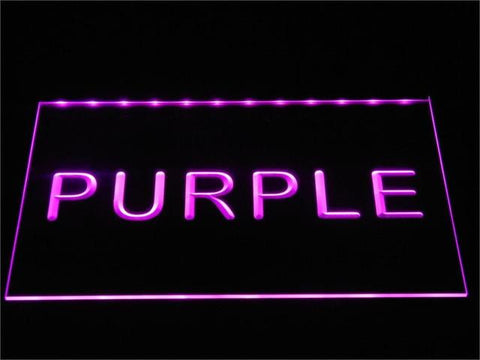 Image of Custom LED Neon Sign - Design Your Own - Landscape - Purple - SafeSpecial