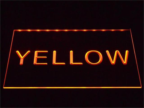 Image of Custom LED Neon Sign - Design Your Own - Landscape - Yellow - SafeSpecial