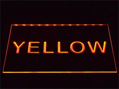 Custom LED Neon Sign - Design Your Own - Landscape - Yellow - SafeSpecial