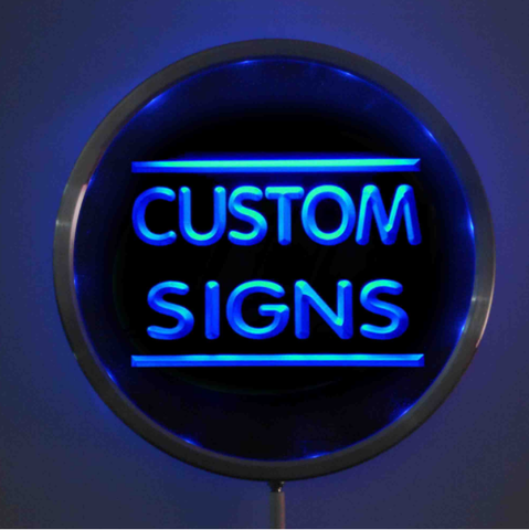 Image of Custom LED Neon Sign - Design Your Own - Round - Blue - SafeSpecial