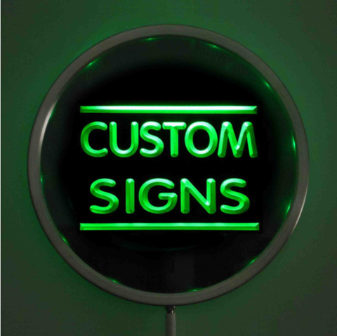 Custom LED Neon Sign - Design Your Own - Round - Green - SafeSpecial