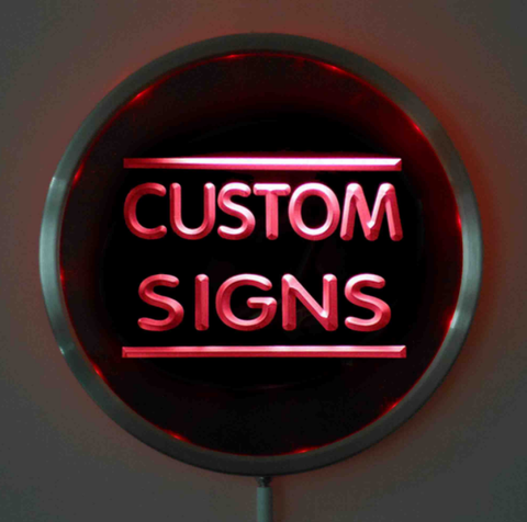 Image of Custom LED Neon Sign - Design Your Own - Round - Red - SafeSpecial