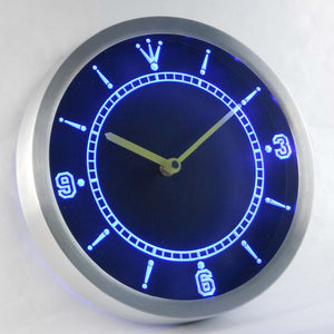 Custom LED Neon Wall Clock - Design Your Own - Blue - SafeSpecial