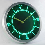 Custom LED Neon Wall Clock - Design Your Own - Green - SafeSpecial
