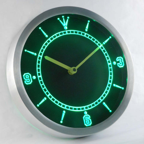 Image of Custom LED Neon Wall Clock - Design Your Own - Green - SafeSpecial