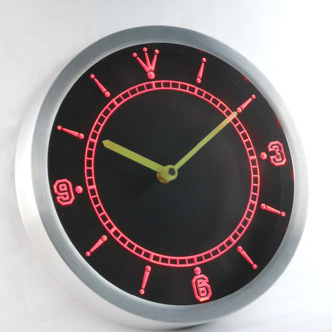 Image of Custom LED Neon Wall Clock - Design Your Own - Red - SafeSpecial