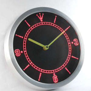 Custom LED Neon Wall Clock - Design Your Own - Red - SafeSpecial