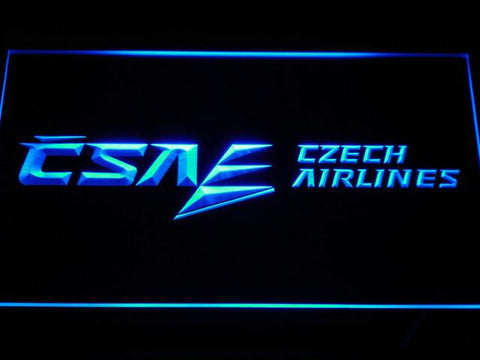 Czech Airlines LED Neon Sign - Blue - SafeSpecial