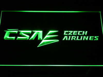 Czech Airlines LED Neon Sign - Green - SafeSpecial