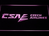 Czech Airlines LED Neon Sign - Purple - SafeSpecial