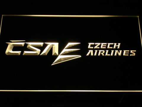 Czech Airlines LED Neon Sign - Yellow - SafeSpecial