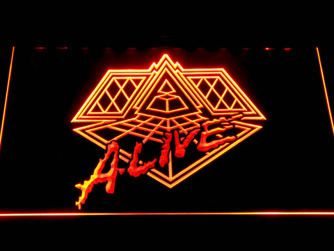 Daft Punk Alive LED Neon Sign - Orange - SafeSpecial