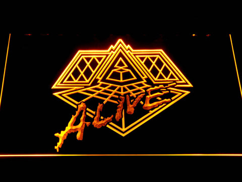 Daft Punk Alive LED Neon Sign - Yellow - SafeSpecial