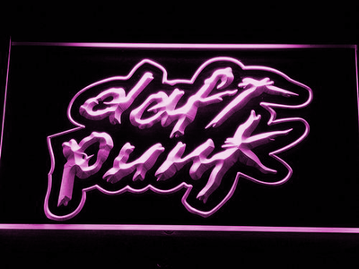 Daft Punk LED Neon Sign - Purple - SafeSpecial
