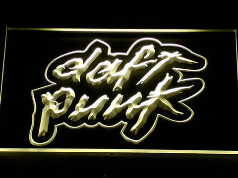 Image of Daft Punk LED Neon Sign - Yellow - SafeSpecial