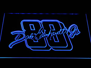Dale Earnhardt Jr. Signature 88 LED Neon Sign - Blue - SafeSpecial