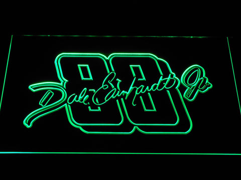 Dale Earnhardt Jr. Signature 88 LED Neon Sign - Green - SafeSpecial