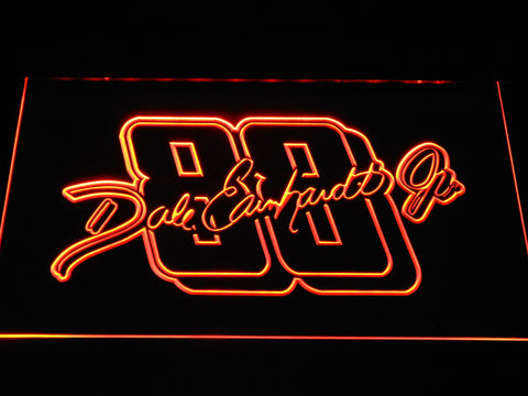 Dale Earnhardt Jr. Signature 88 LED Neon Sign - Orange - SafeSpecial
