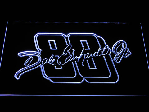 Dale Earnhardt Jr. Signature 88 LED Neon Sign - White - SafeSpecial