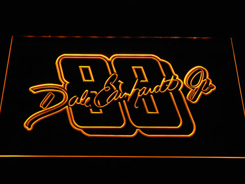 Dale Earnhardt Jr. Signature 88 LED Neon Sign - Yellow - SafeSpecial