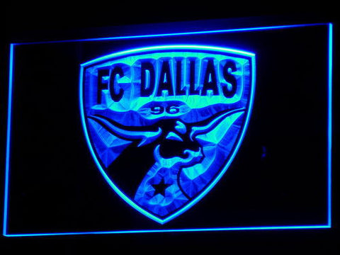 Dallas FC LED Neon Sign - Blue - SafeSpecial
