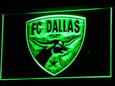 Dallas FC LED Neon Sign - Green - SafeSpecial