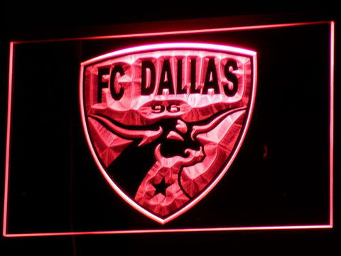 Dallas FC LED Neon Sign - Red - SafeSpecial