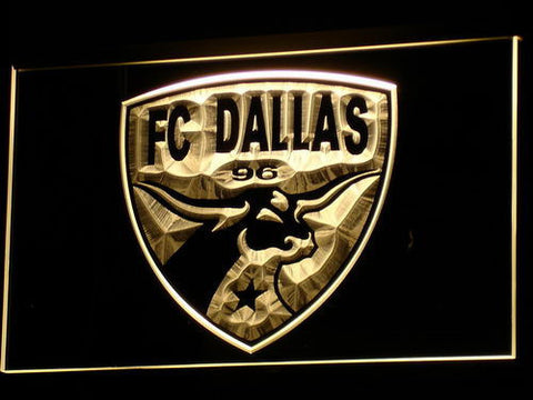 Dallas FC LED Neon Sign - Yellow - SafeSpecial