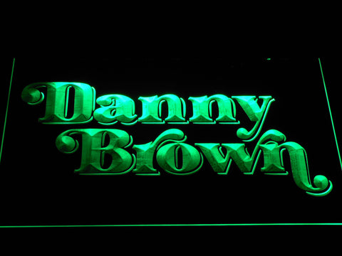 Danny Brown LED Neon Sign - Green - SafeSpecial