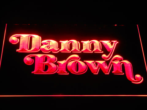 Danny Brown LED Neon Sign - Red - SafeSpecial