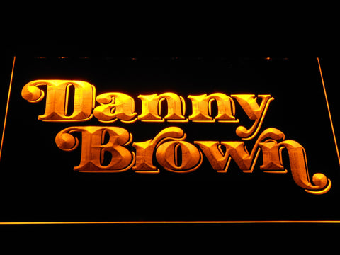 Danny Brown LED Neon Sign - Yellow - SafeSpecial