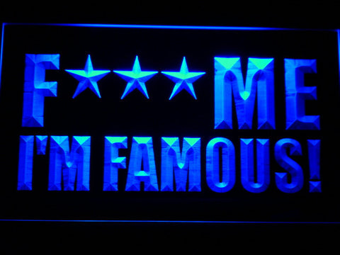 David Guetta F*** Me I'm Famous! LED Neon Sign - Blue - SafeSpecial