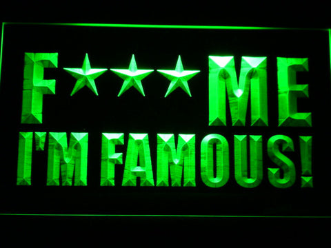 David Guetta F*** Me I'm Famous! LED Neon Sign - Green - SafeSpecial