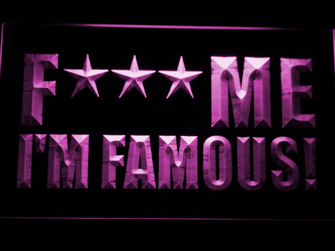 David Guetta F*** Me I'm Famous! LED Neon Sign - Purple - SafeSpecial