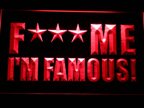 David Guetta F*** Me I'm Famous! LED Neon Sign - Red - SafeSpecial