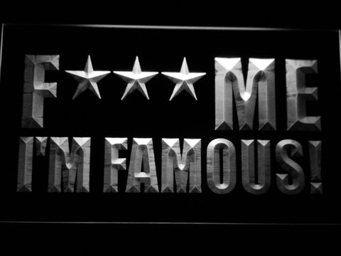David Guetta F*** Me I'm Famous! LED Neon Sign - White - SafeSpecial