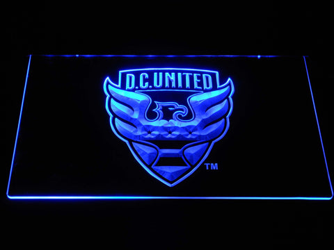 Image of D.C. United LED Neon Sign - Blue - SafeSpecial