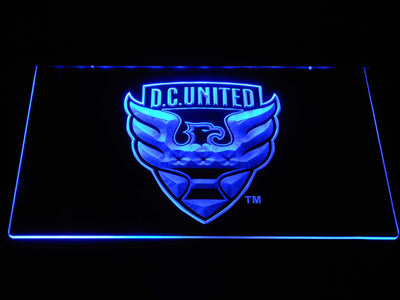 D.C. United LED Neon Sign - Blue - SafeSpecial